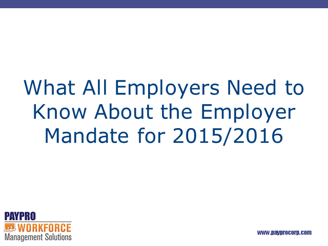 What All Employers Should Know About the ACA Employer Mandate