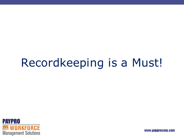 ACA Recordkeeping is a Must!