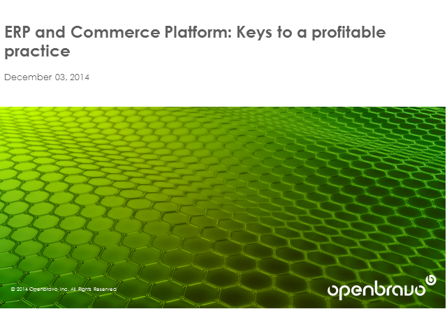 ERP and Commerce Platform: Keys to a Profitable Practice