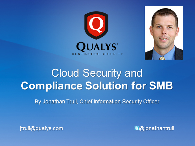 Cloud Security and Compliance Solution for SMB