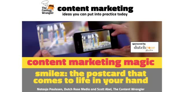 Content Marketing Magic: Smilez, The Postcard That Comes To Life In Your Hand
