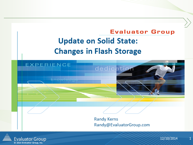 Update on Solid State: Changes in Flash Storage