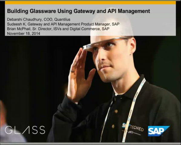 SAP and Google Glass: SAP Gateway & API Manager