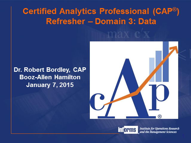 CAP® Webinar Training Series Part III
