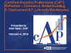 CAP® Webinar Training Series Part V
