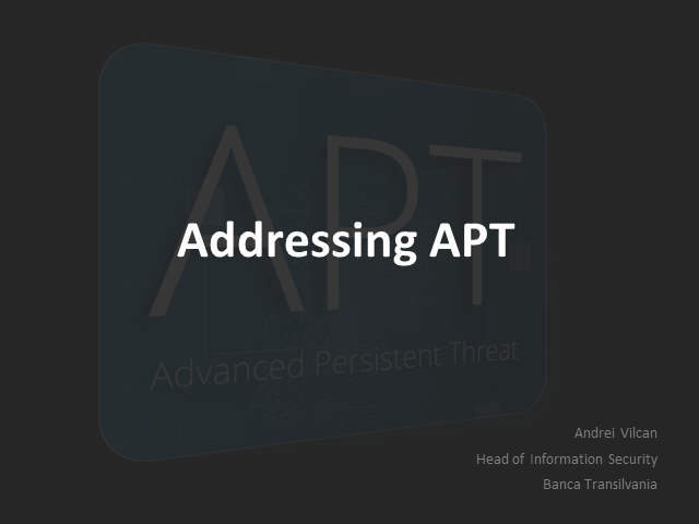 How to mitigate the risk of APT with a multi-layered approach to security