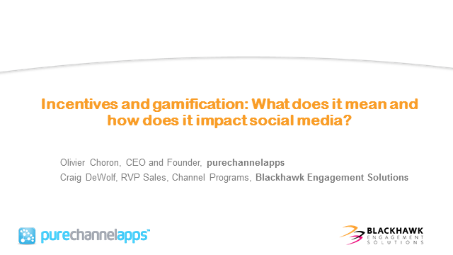 Incentives and gamification:  What does it mean and how does impact social media