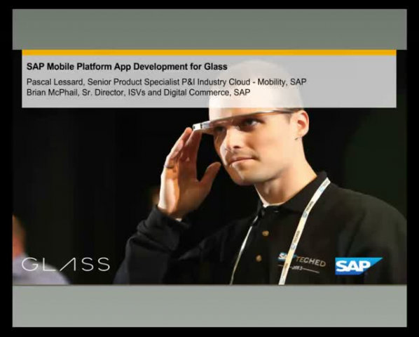 SAP and Google Glass: SAP Mobility Software Development Kit for Glass