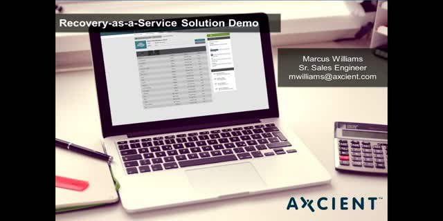 Axcient Live Demo: Recovery-as-a-Service Technical Deep Dive