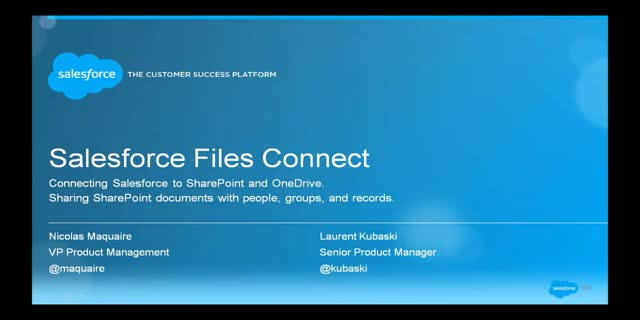 Connecting Salesforce to Microsoft SharePoint with Salesforce Files Connect