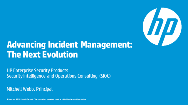 Advancing Incident Management: The Next Evolution
