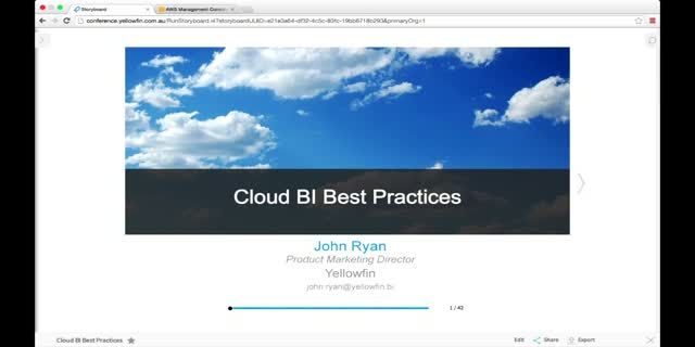 Build it Right: Best Practices for Cloud BI