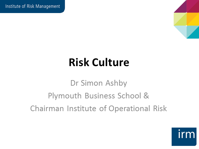 'Understanding and Managing Risk Culture