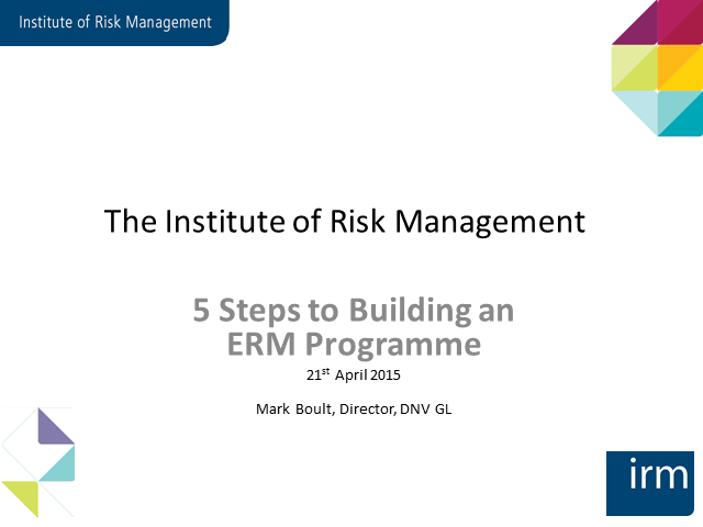 5 Steps to Building an ERM Programme