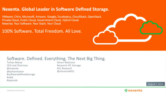 Nexenta & 451 Research: Software. Defined. Everything. The Next Big Thing.