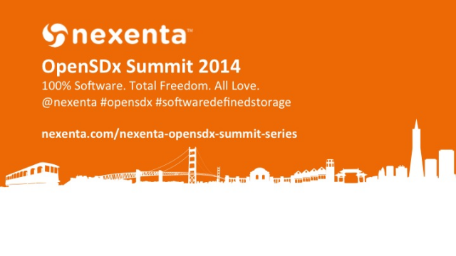 Highlights from Nexenta's OpenSDx Summit