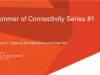 Summer of Connectivity Webinar Series