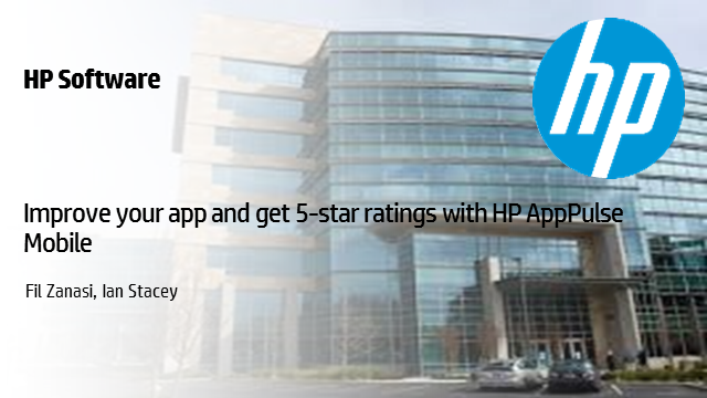 Improve your app and get 5-star ratings with HP AppPulse Mobile