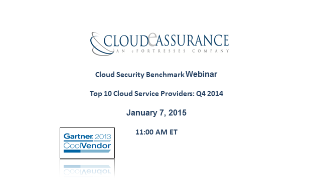 Cloud Security Benchmark: Top 10 Cloud Service Providers Q4 2014