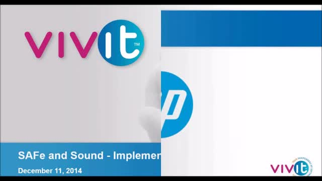 SAFe and Sound - Implementing Agile at Scale with HP