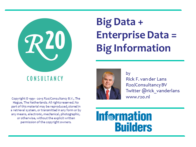 Big Data + Enterprise Data = Big Information