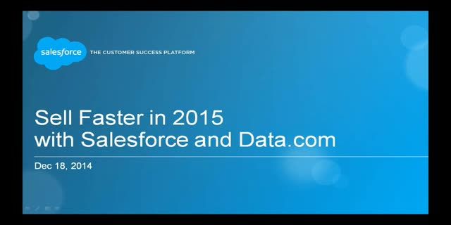 Sell Faster in 2015 with Salesforce and Data.com