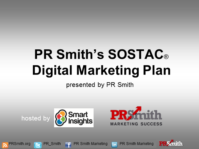 PR Smith's SOSTAC® Digital Marketing Plan