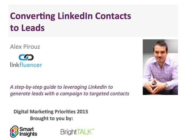 Converting LinkedIn Contacts to Leads