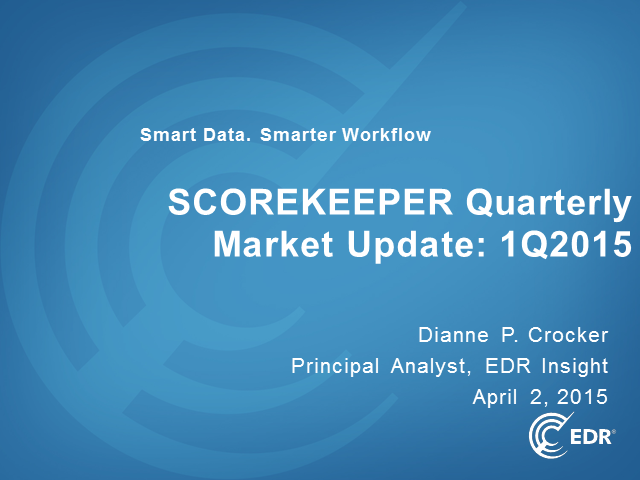 EDR Insight Webinar: Quarterly ScoreKeeper Market Update for 1Q2015