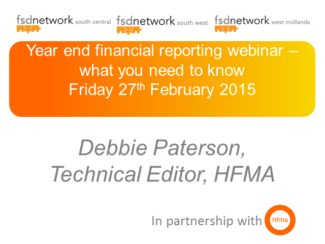 SW, WM & SC FSD: Year end financial reporting webinar – what you need to know