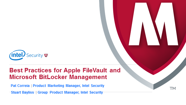 Apple FileVault & Microsoft BitLocker Management - for EMEA Customers