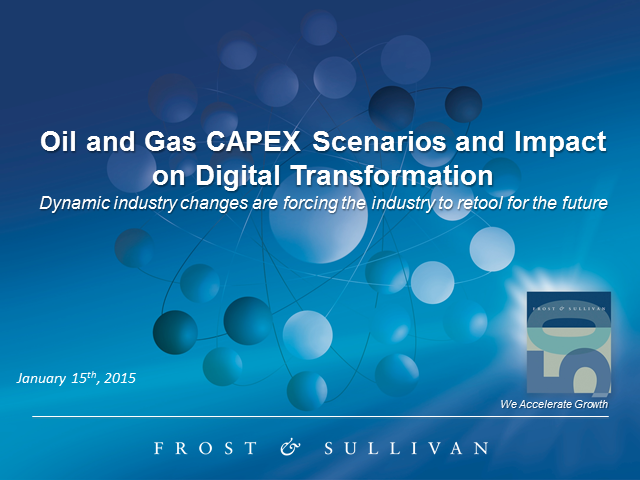Oil and Gas CAPEX Scenarios and Impact on Digital Transformation
