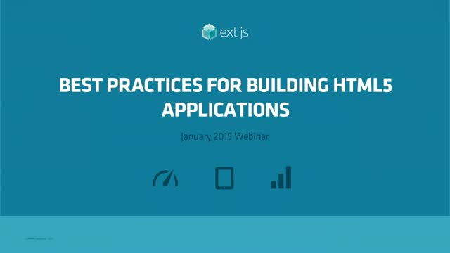 Panel Discussion: Best Practices for Building HTML5 Applications