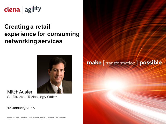 Creating a retail experience for consuming networking services