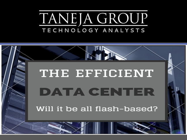 The Efficient Data Center - Will It Be All-Flash Based?