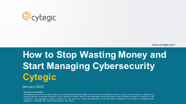 How to Stop Wasting Money and Start Managing Cybersecurity