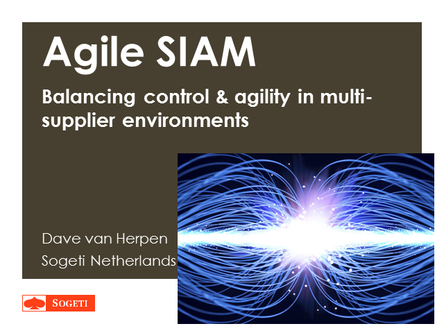 Aglie SIAM: balancing control & agility in multi-supplier environments