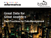 Great Data for Great Analytics: Best Practices for Data Management