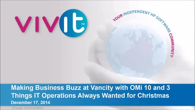 Making Business Buzz at Vancity with OMi 10 and 3 Things IT Operations Wanted