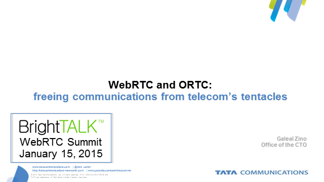 WebRTC & ORTC: Freeing Communications From Telecom's Tentacles