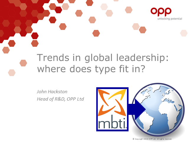 Trends in global leadership – where does MBTI type fit in?