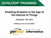 Enabling Analytics in the Age of the Internet of Things