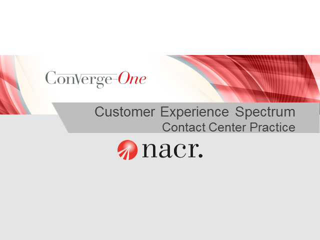 Customer Experience Spectrum of NACR's Contact Center Practice