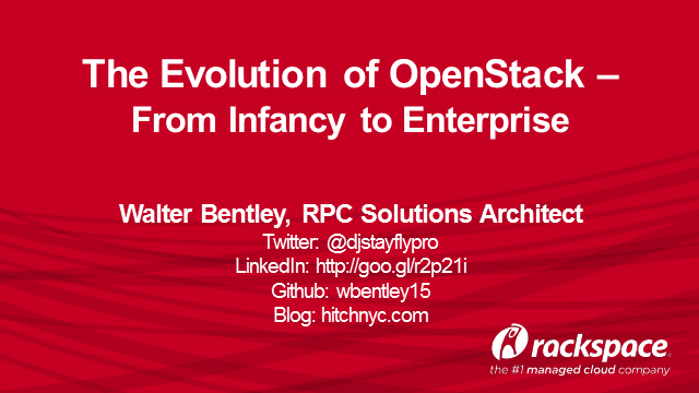 The Evolution of OpenStack - From Infancy to Enterprise