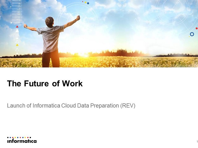 Launch of Informatica REV (Cloud Data Preparation)