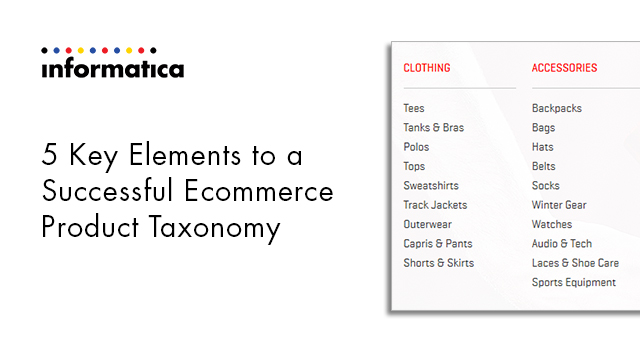5 Key Elements to a Successful Ecommerce Product Taxonomy