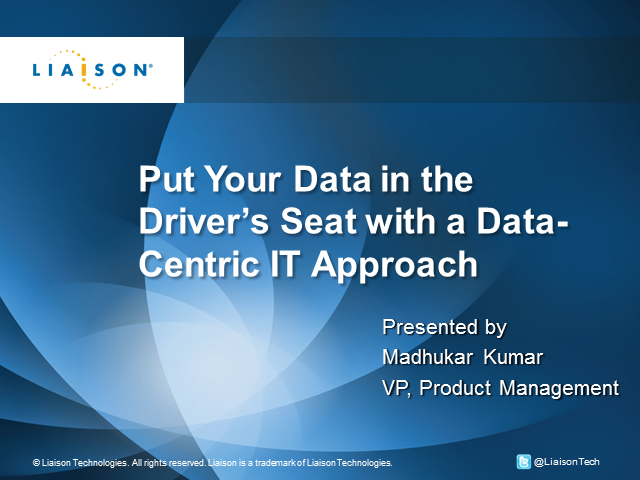 Put Your Data in the Driver's Seat with a Data-Centric IT Approach