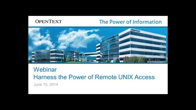 Harness the Power of Remote UNIX Access