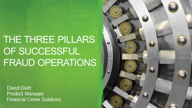 The 3 pillars of fraud operations