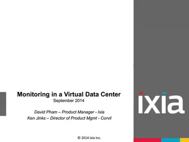 Monitoring in a Virtual Data Center